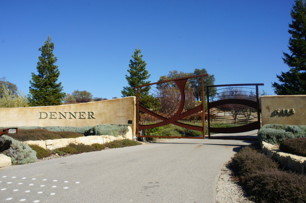 Denner winery entrance, Paso Robles