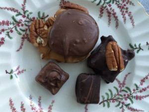 Truffles and pecan flip from Anette's Chocolates in Napa