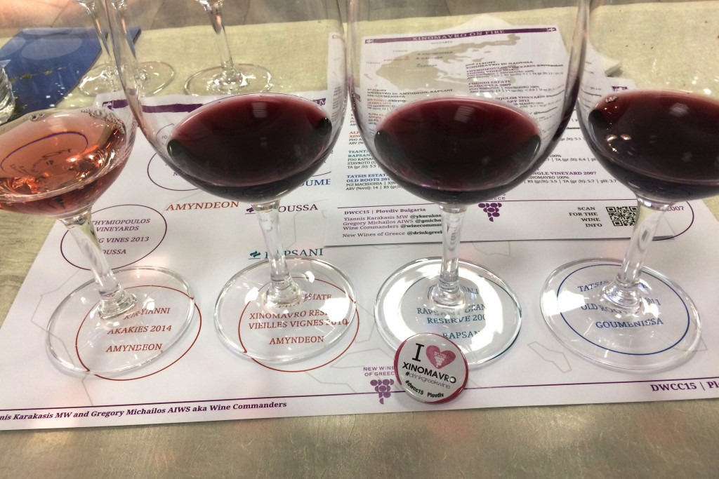 Xinomavro flight of wines