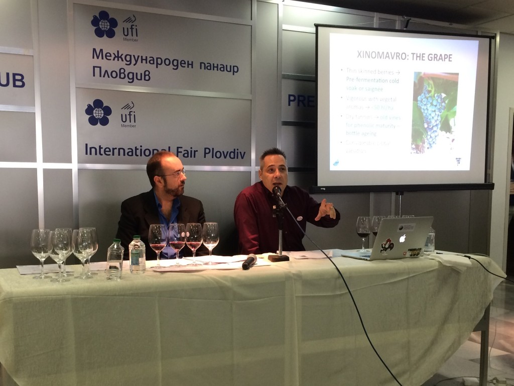 Yiannis Karakasis, MW, and Gregory Michailos are leading the masterclass on Xinomavro at the Digital Wine Communications Conference in Plovdiv