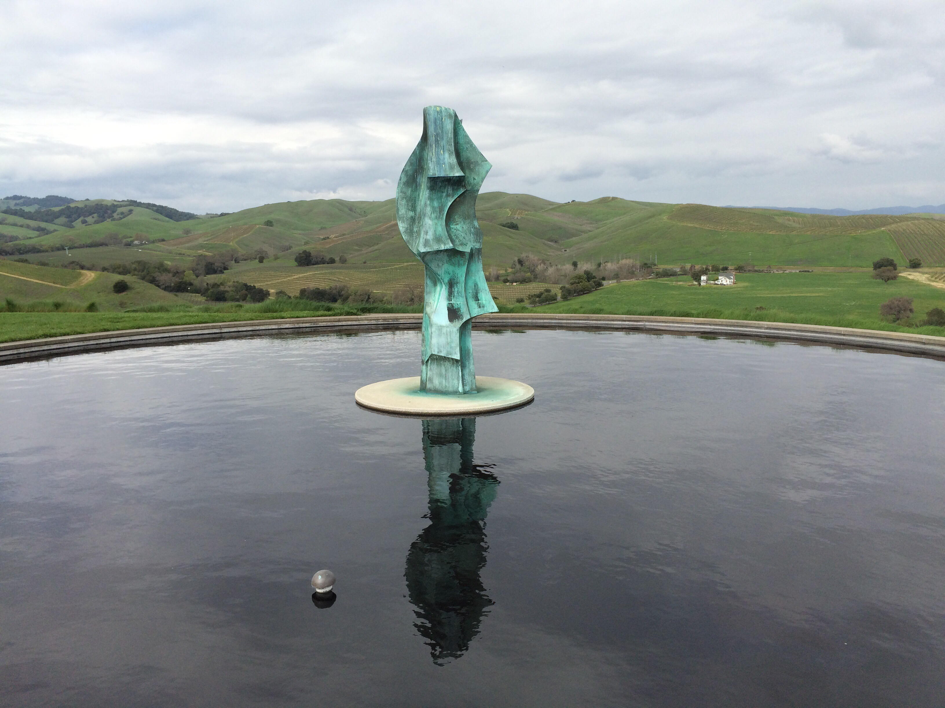 Fountain in the Artesa Winery, Napa Valley