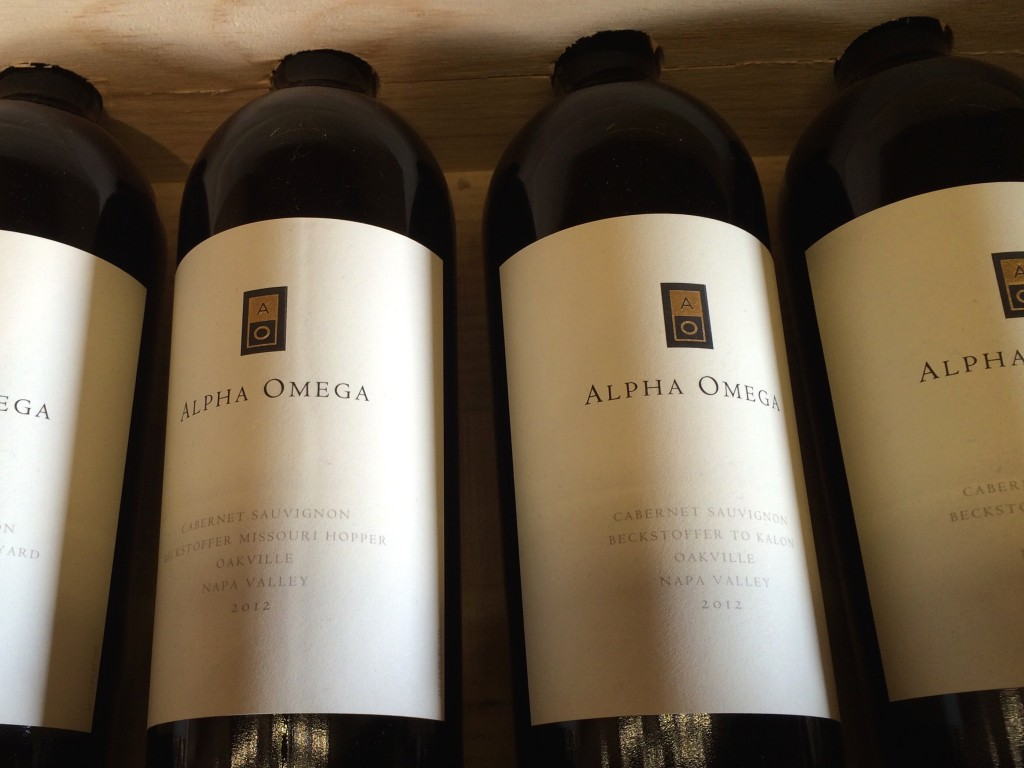 Alpha Omega winery in Napa valley, wines
