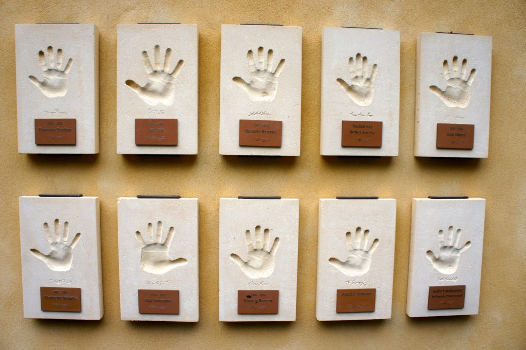 "Stag's Leap Wine Cellars, ""Hands of Time"" wall"