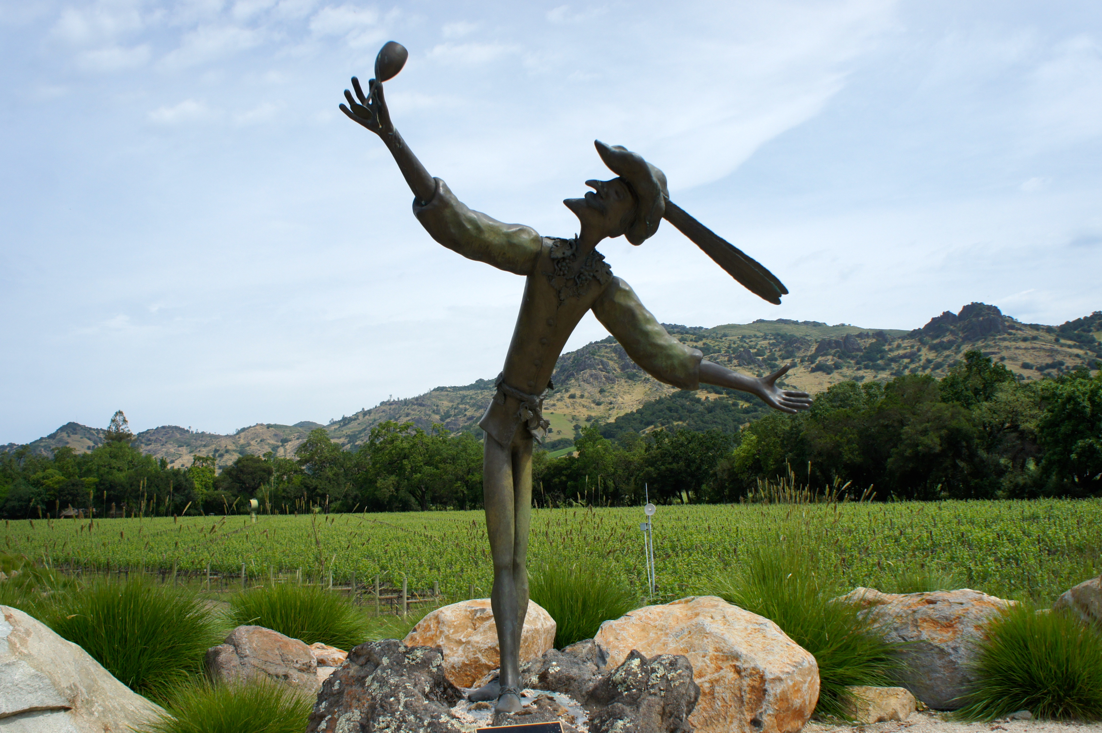 Stag's Leap Wine Cellars, statue of the Greeter