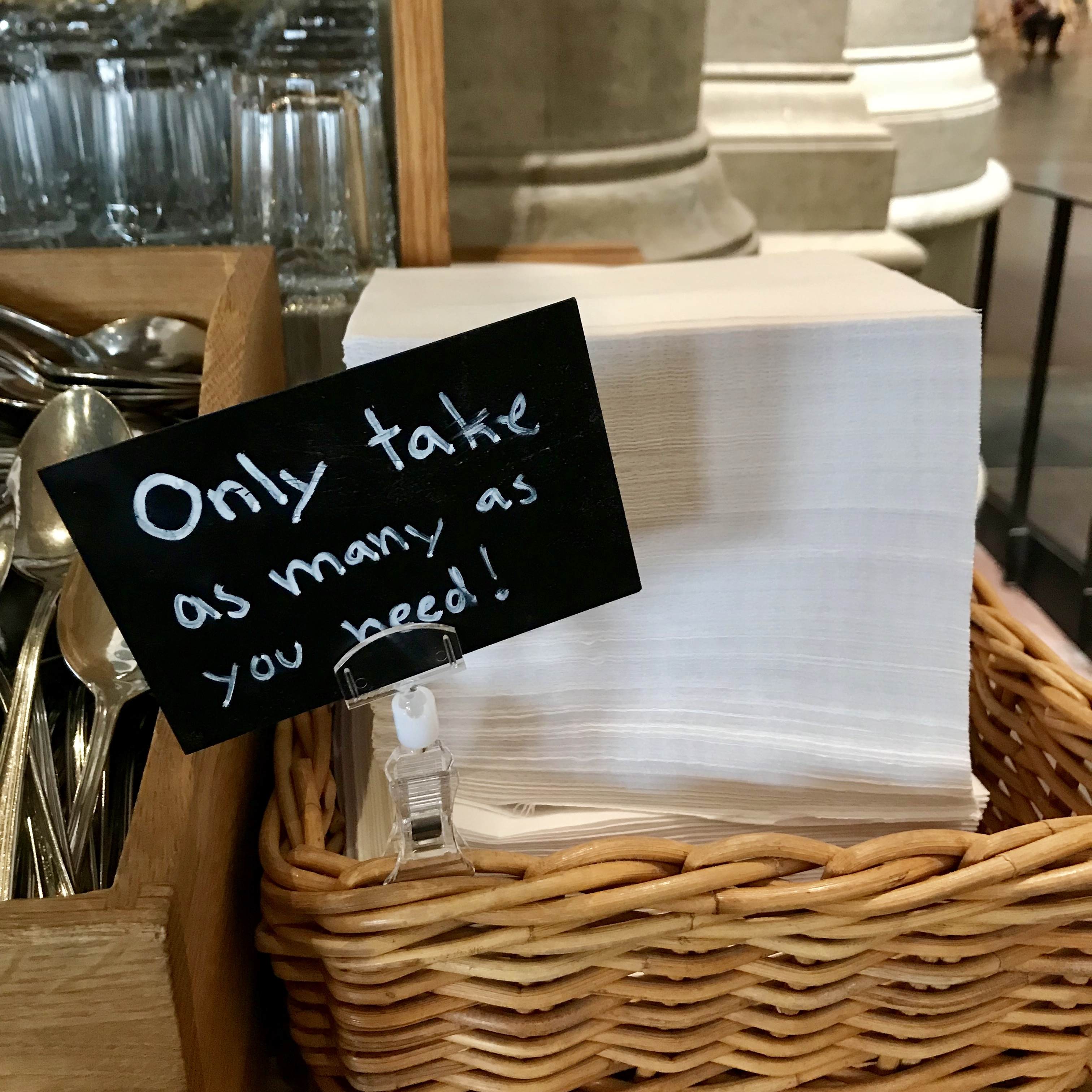 'Only take as many as you need' -the sign in the Nordic Museum's cafeteria is a perfect example of what Swedes mean by word 'lagom'