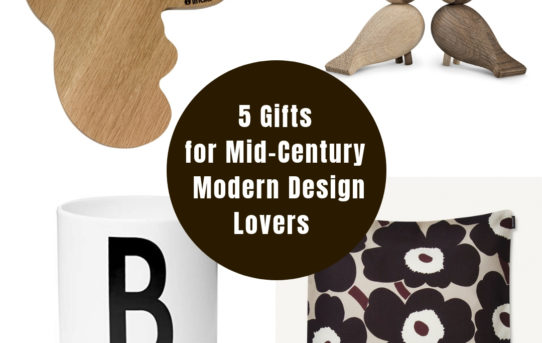 Gifts for mid-century modern design lovers
