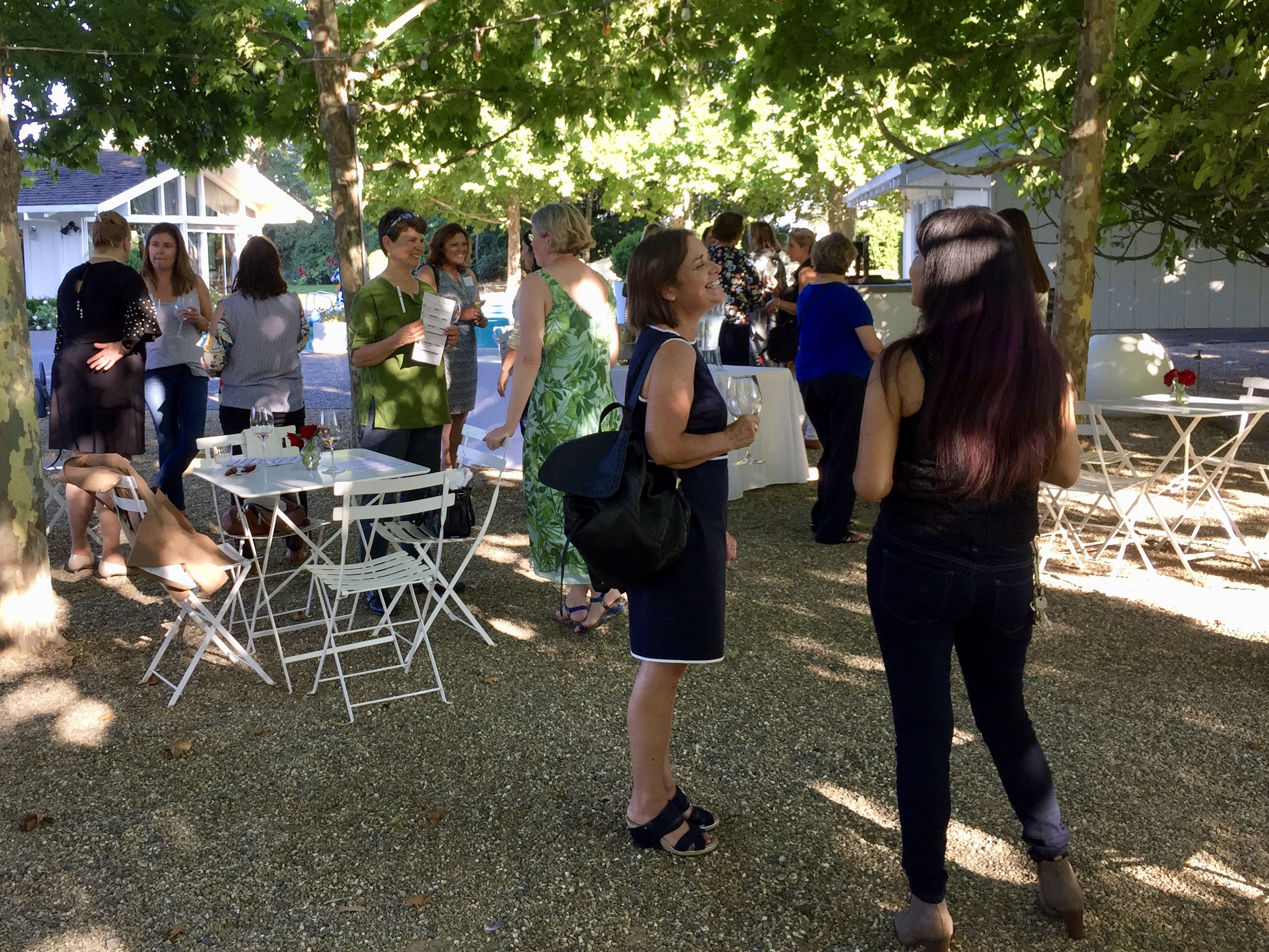 Wine Women gather in Raymond Vineyards in St. Helena to discuss volunteer opportunities